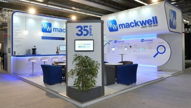 Mackwell Electronics Exhibition Stand at Light & Build