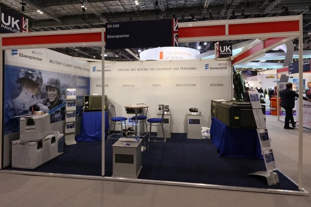 Eberspacher exhibition stand at DSEI