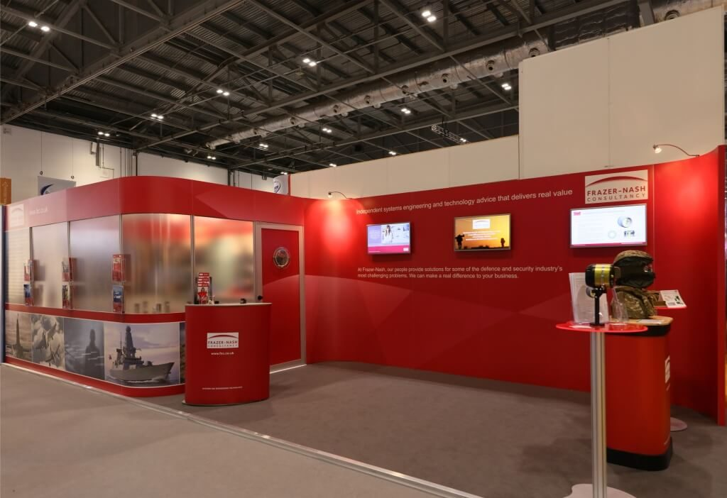 Frazer Nash exhibition stand at DSEI