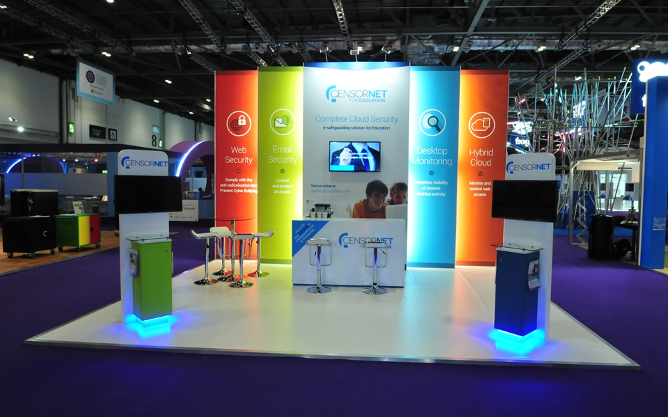 Exhibition stand for Censornet