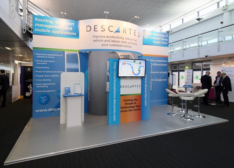 Exhibition stand for Descartes