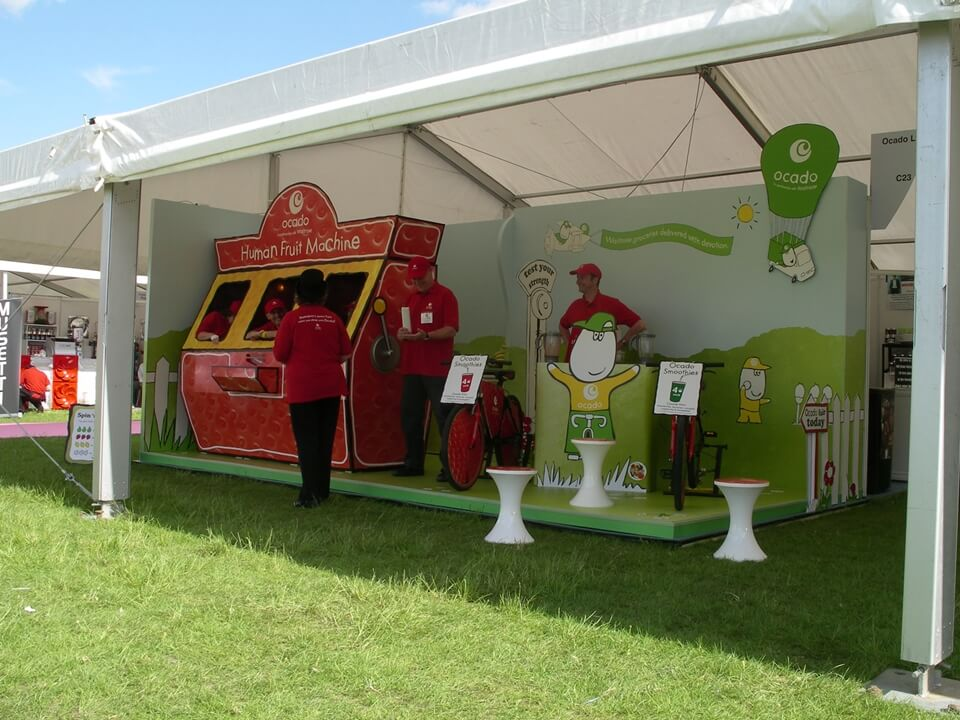 Exhibition stand for Ocado