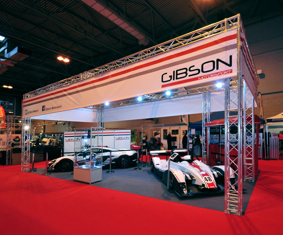 Gantry exhibition stand for Gibson Motorsport