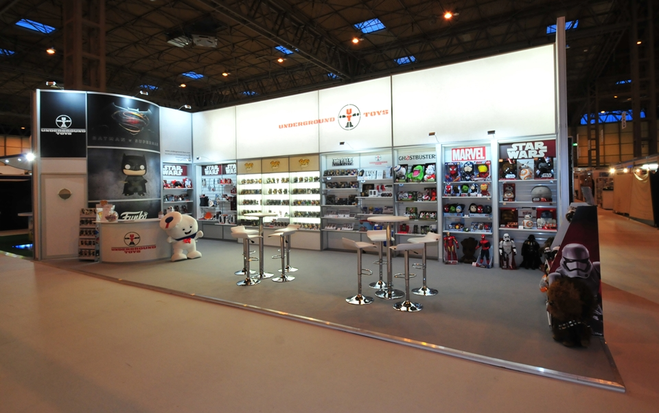 Exhibition stand for Underground Toys