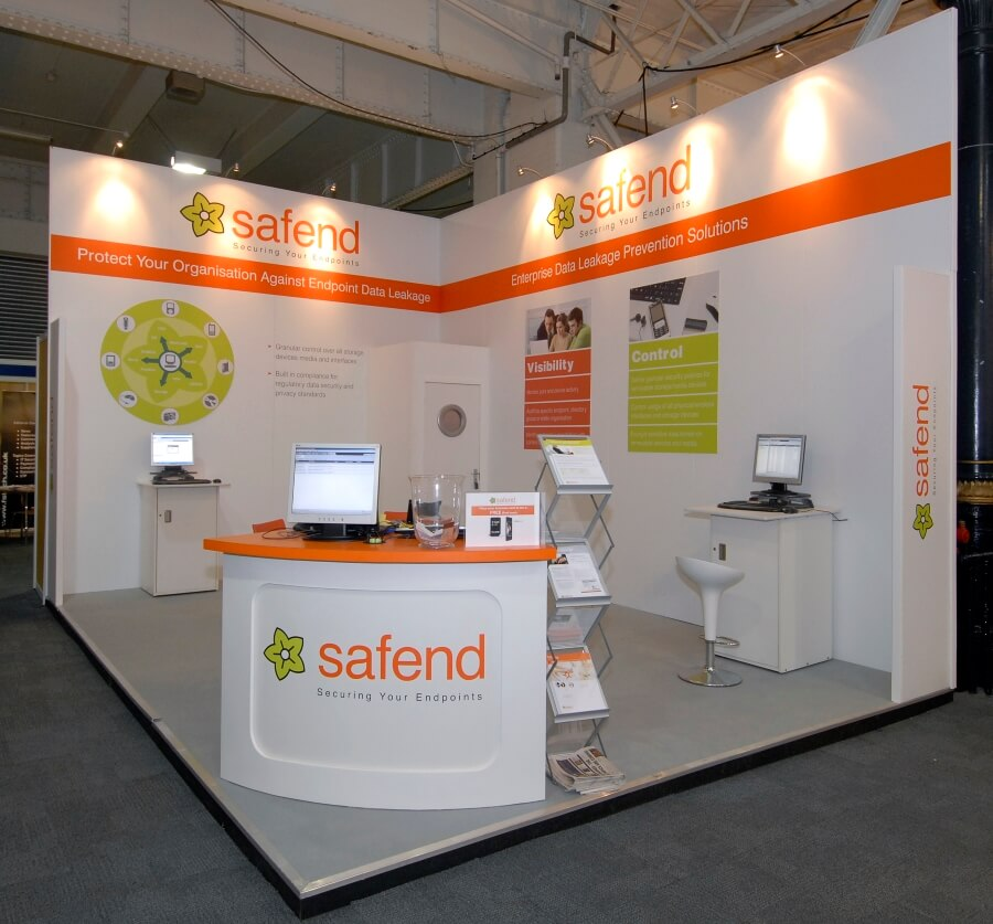 infosecurity europe exhibition stand - safend