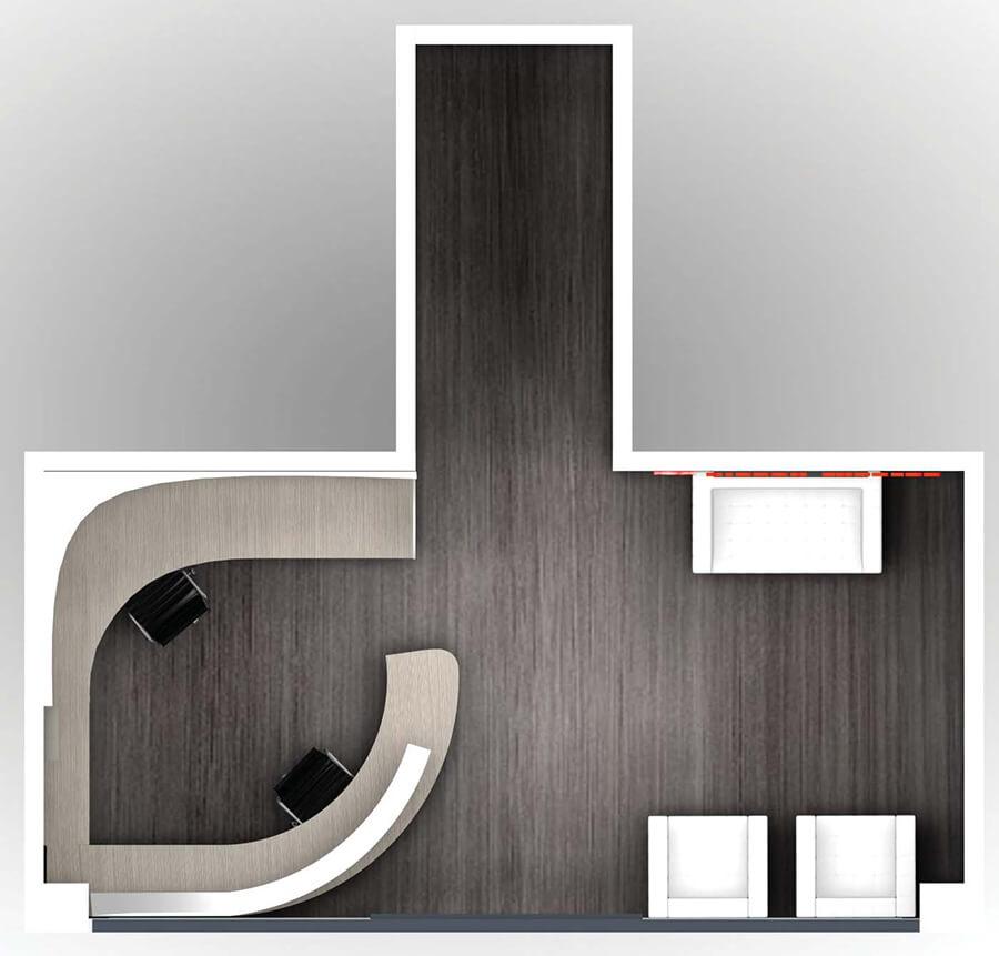 Creative reception interior design inspiring office spaces for Decorator pattern