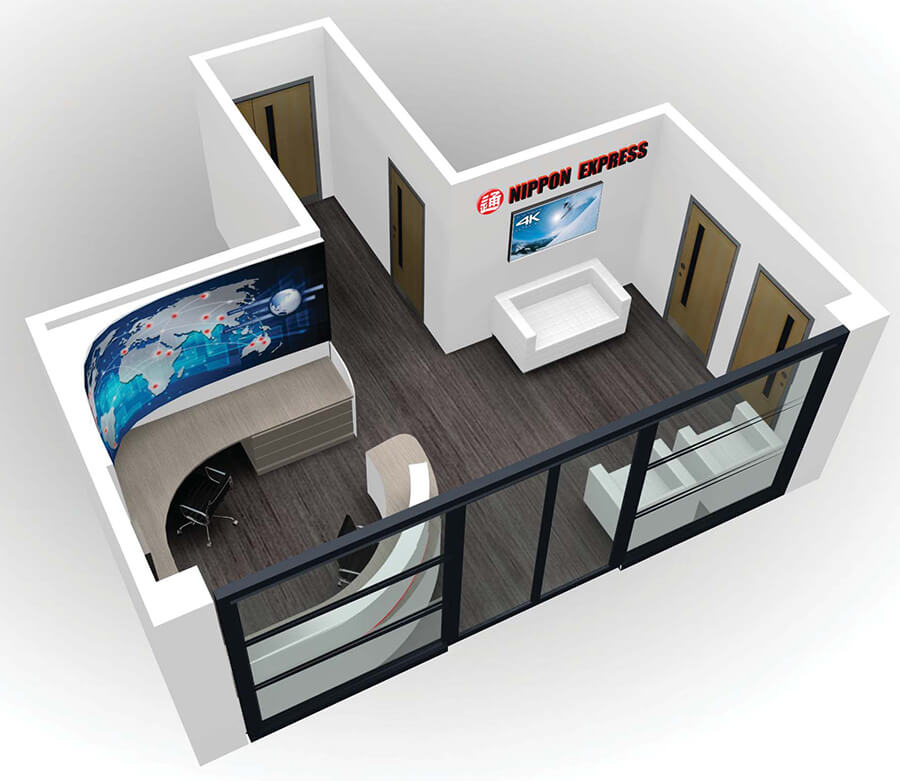 reception design for nippon express front view