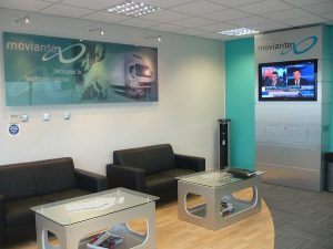 Reception area refurbishment for Movianto