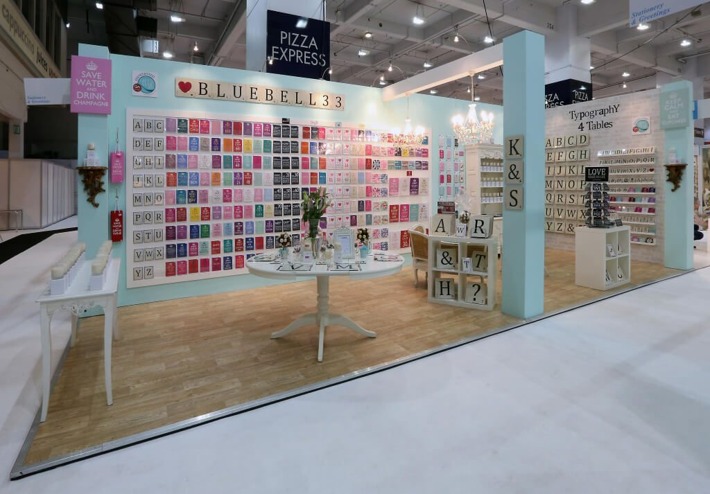 exhibition stand at top drawer for bluebell33