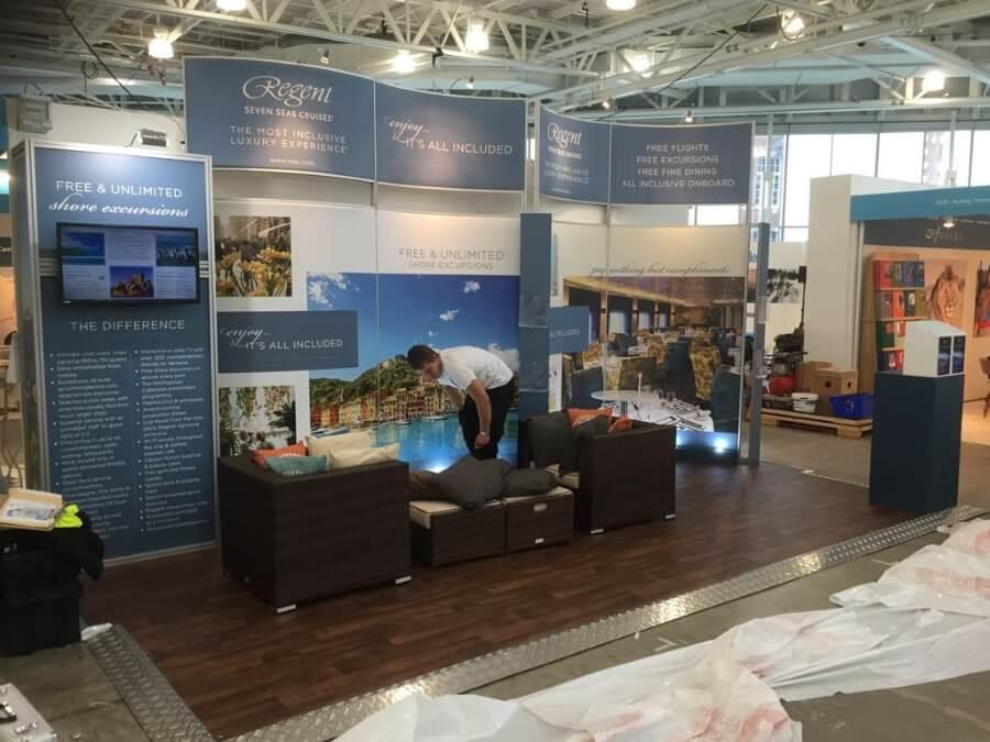 luxury travel fair exhibition stand - regent seven seas