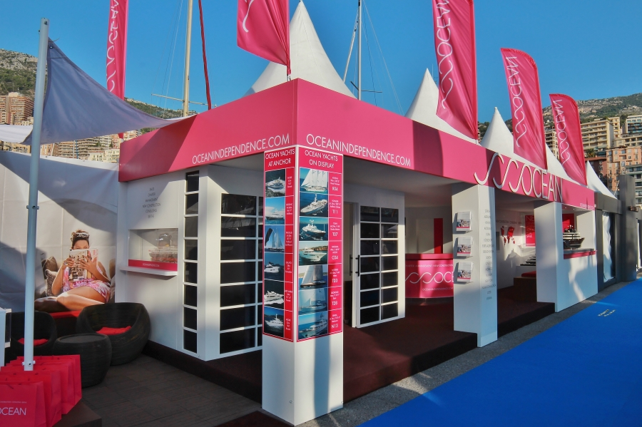 monaco yacht show exhibition stand - ocean independence