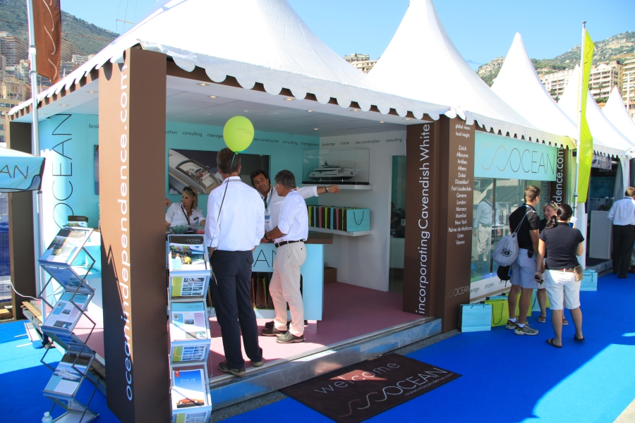 monaco yacht show exhibition stand - ocean independence 3