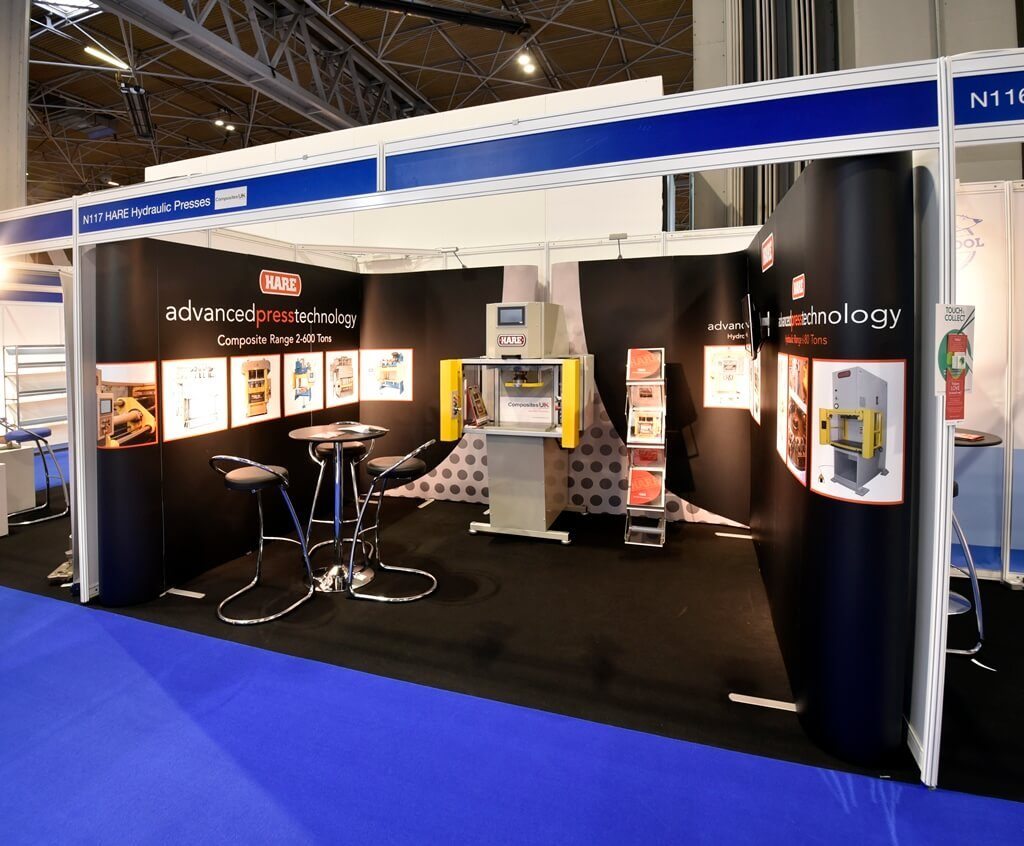 Advanced Engineering exhibition stand - Hare Hydraulic Presses