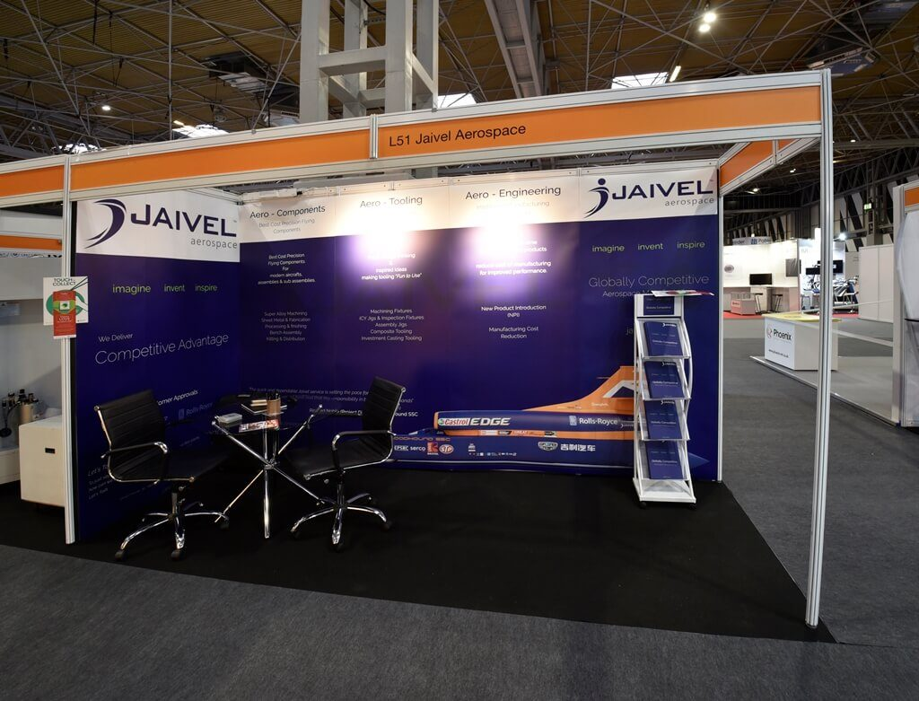 Advanced Engineering exhibition stand - Jaivel Aerospace