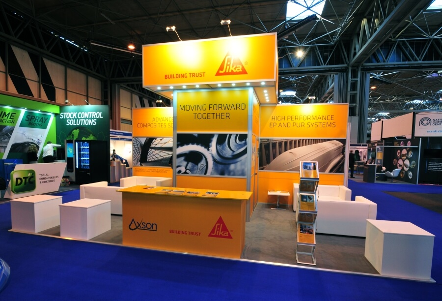 advanced engineering exhibition stand - sika axson