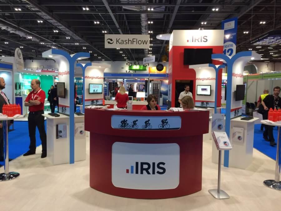 accountex exhibition stand - iris kashflow