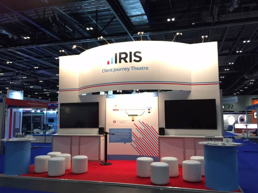 accountex exhibition stand - iris