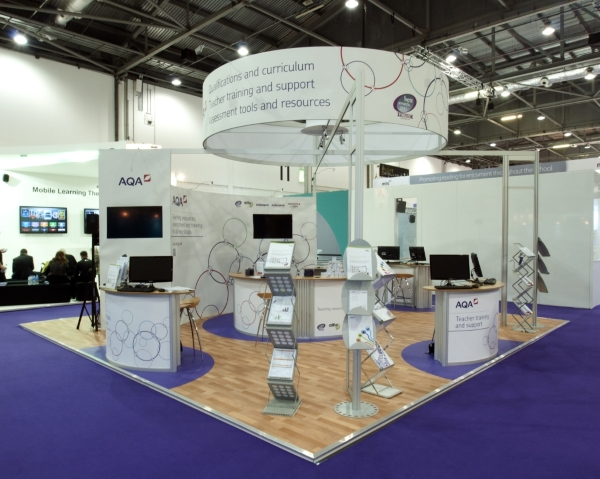 AQA exhibition stand at BETT