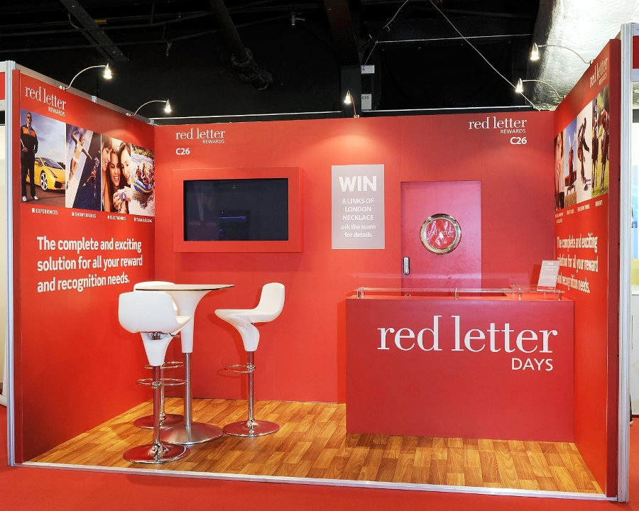 cipd exhibition stand - red letter days 2