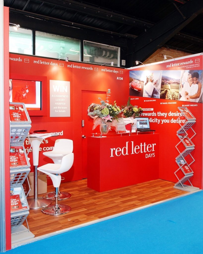 cipd exhibition stand - red letter days