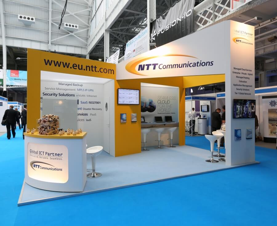 cloud expo europe exhibition stand - ntt communications