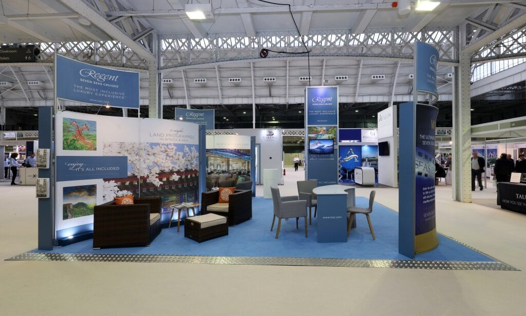 Cruise Show London exhibition stand - Regent Seven Seas Cruises
