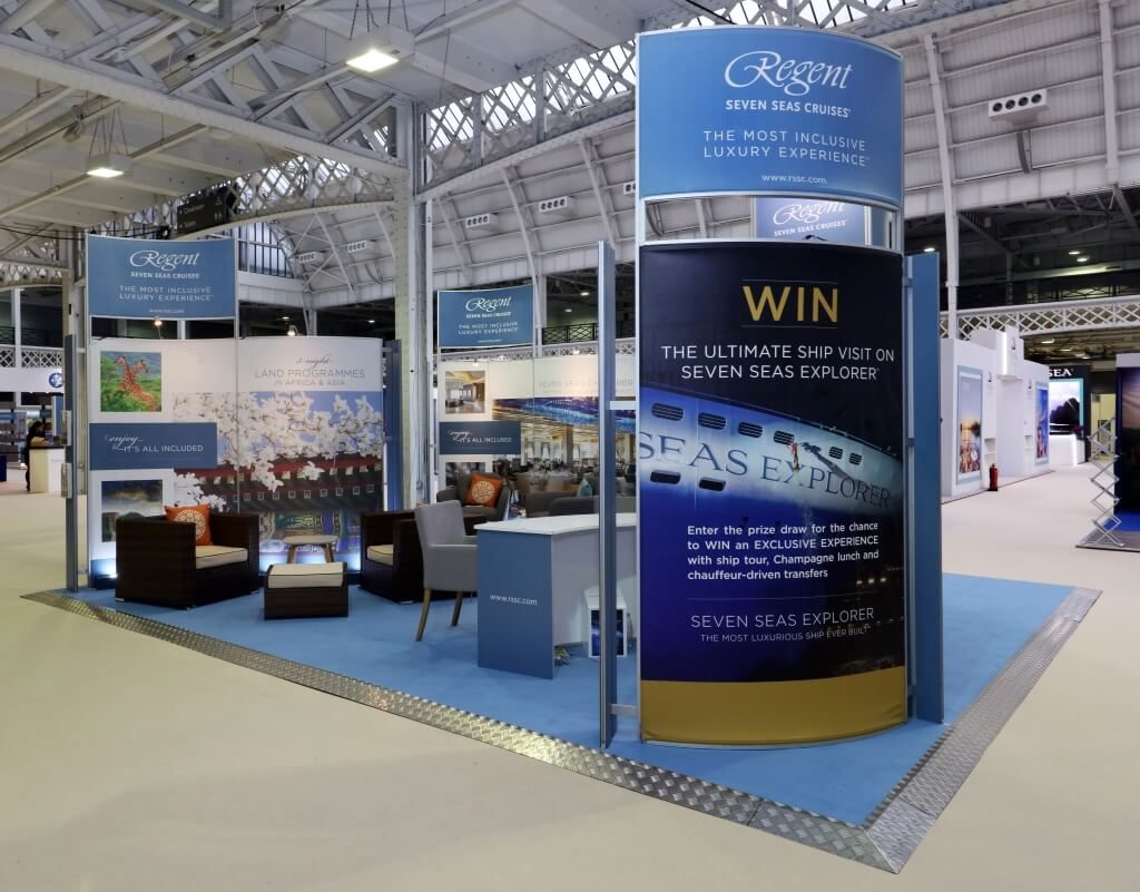 Cruise Show London exhibition stand - Regent Seven Seas Cruises - 2