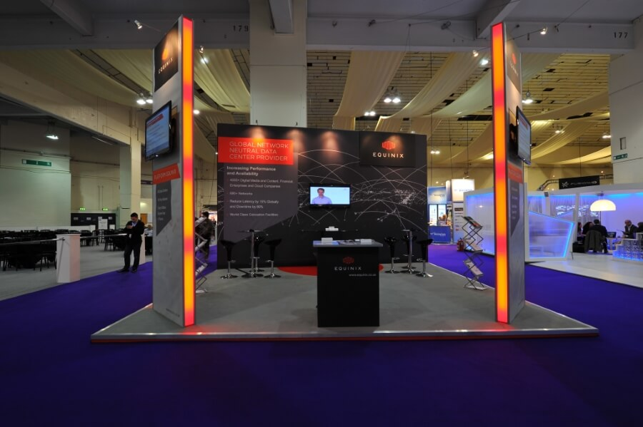 exhibition stand at ice totally gaming equinix