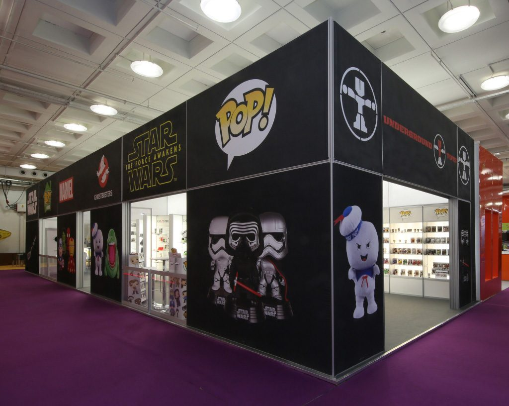 exhibition stand at the toy fair for underground toys - 3