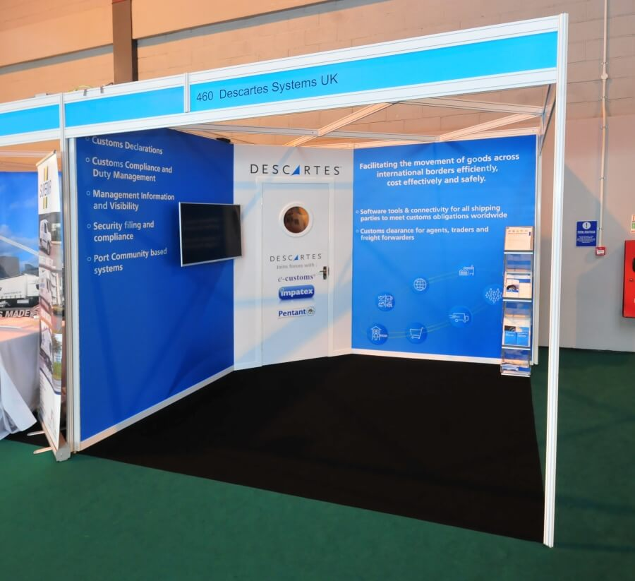 home delivery world europe exhibition stand - descartes