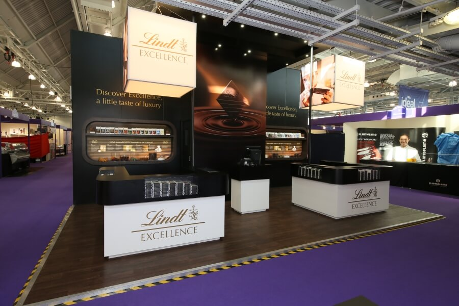 independent hotel show exhibition stand - lindt chocolate