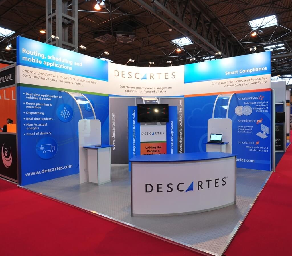 Linx modular exhibition stand - Descartes