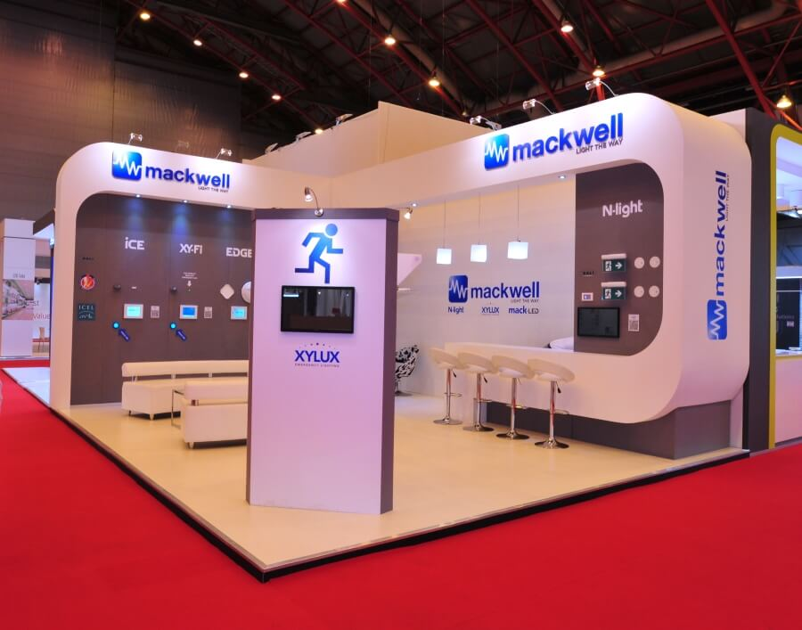 luxlive exhibition stand - mackwell electronics