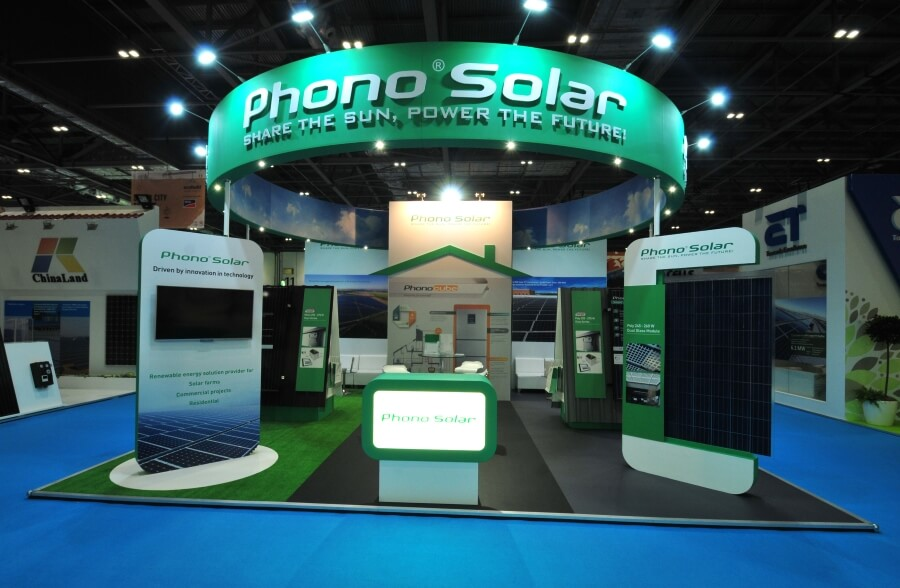 phono solar exhibition stand at ecobuild