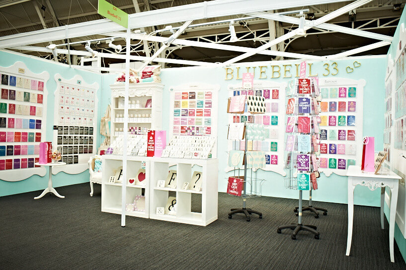 progressive greetings live exhibition stand - bluebell33