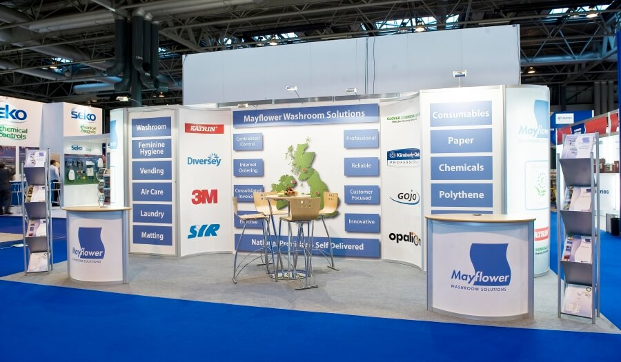 the cleaning show exhibition stand mayflower washrooms