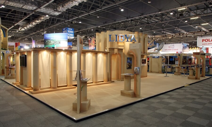 world travel market exhibition stand - libya waha expo 5