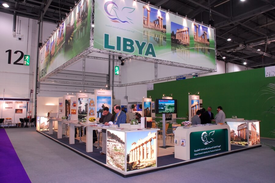 world travel market exhibition stand - libya waha expo