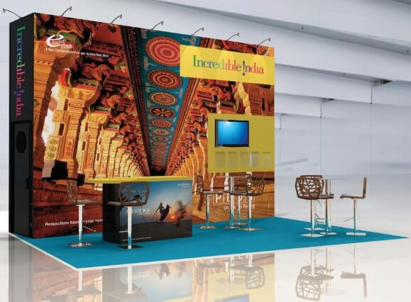 india tourism board exhibition stand design