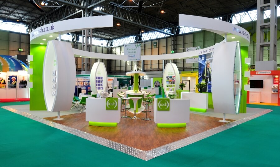 Exhibition Booth Design Uk : Safety and health expo exhibition stand design build