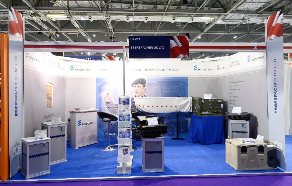 defence and security equipment international exhibition stand - eberspacher