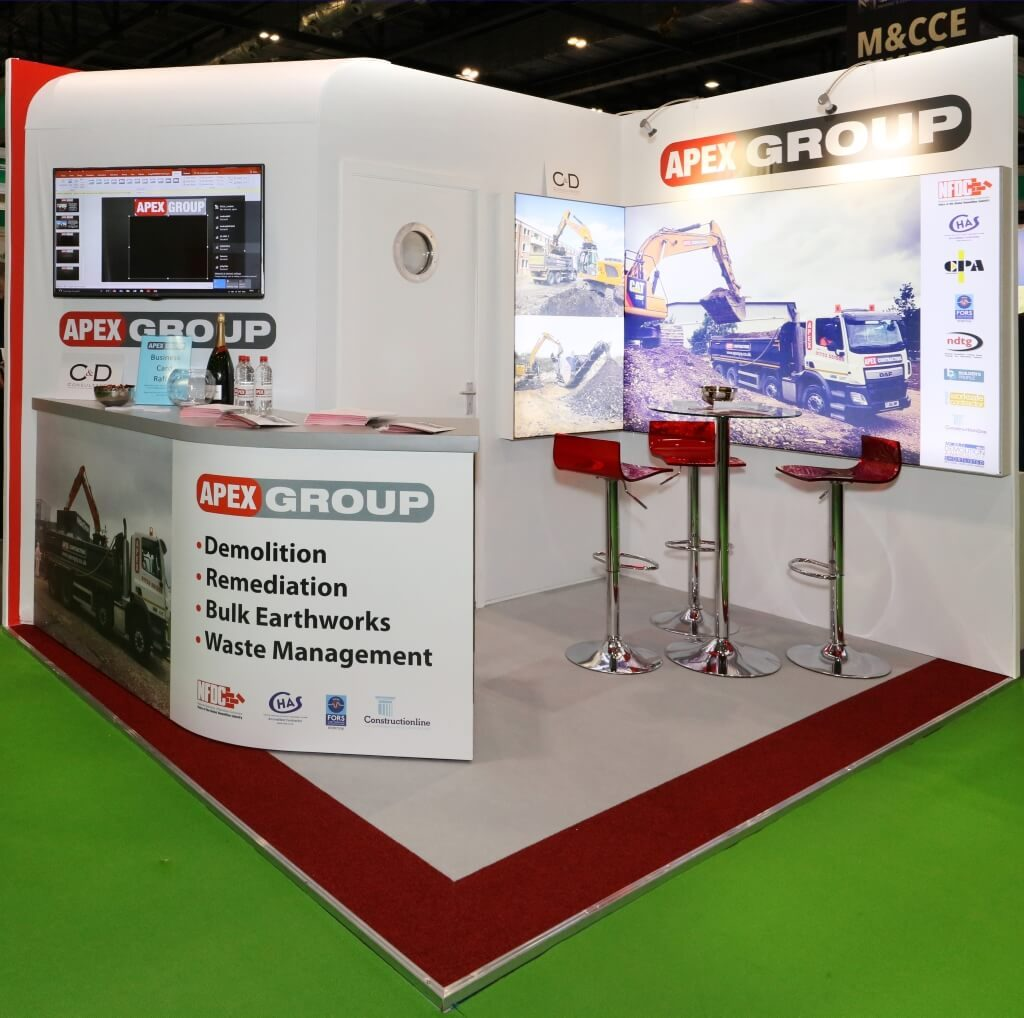 Contamination Expo exhibition stand - Apex Group