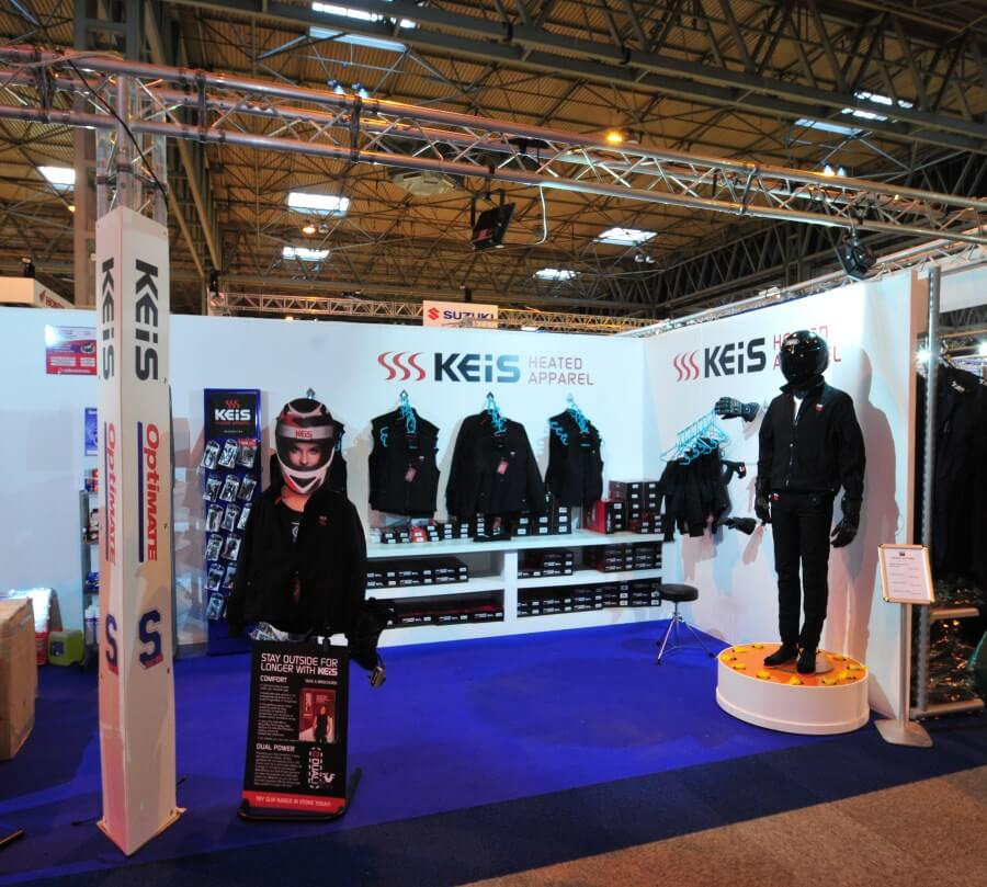 Motorcycle Live exhibition stand - Keis