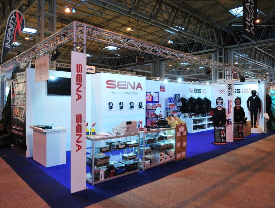 Motorcycle Live exhibition stand - Sena