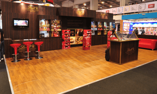 Lindt Exhibition Stand at Pro-Retail