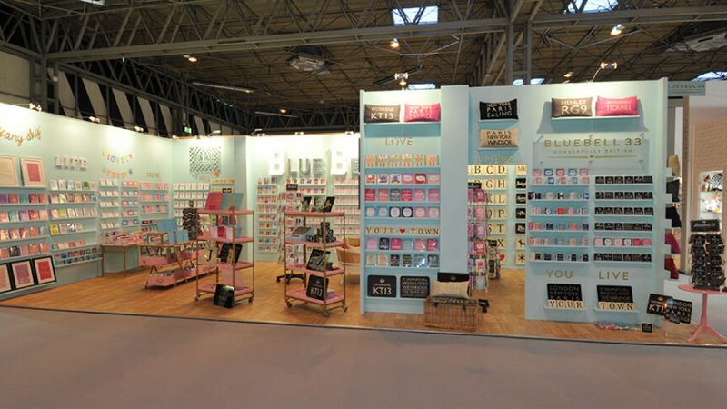 Bluebell 33 exhibition stand at Spring Fair
