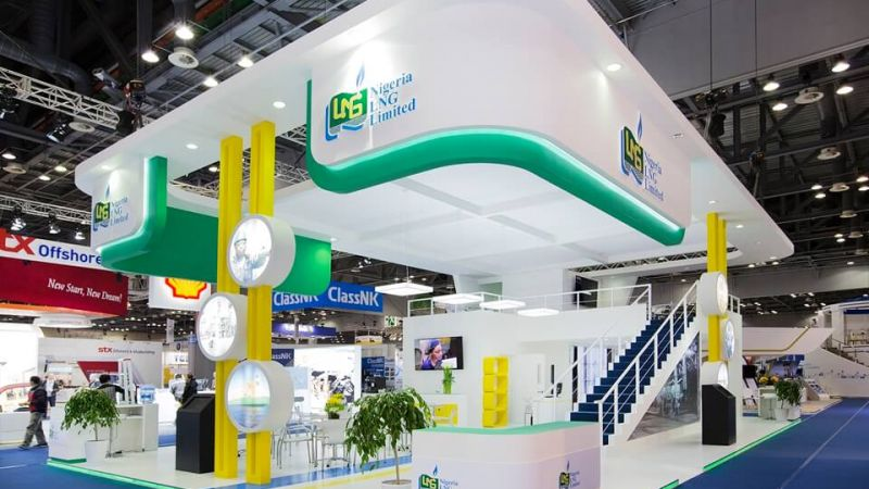 Double Deck Exhibition Stand for Nigeria LNG