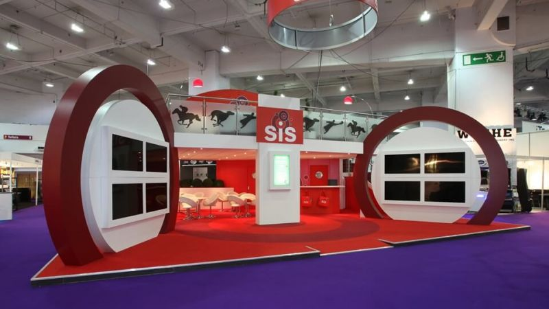 Double deck exhibition stand for SiS Live