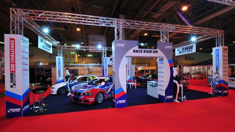Exhibition stand for BMW Race Days