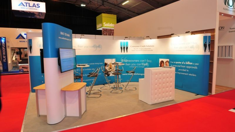 Exhibition stand for Consumer Credit Solutions